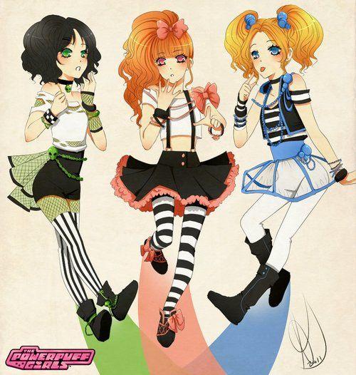 Anime Powerpuff Girls - so cute!