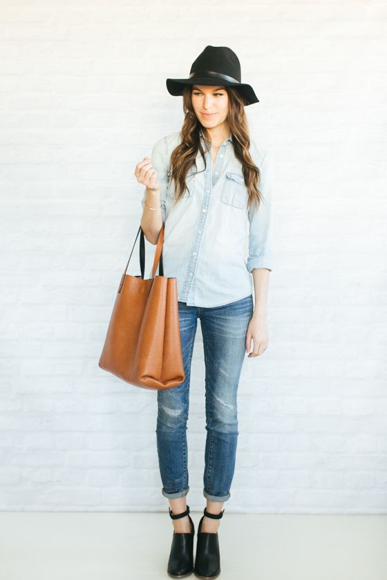 Unfancy Fall Wardrobe Capsule 2014 - 4.18 two ways to wear denim on denim