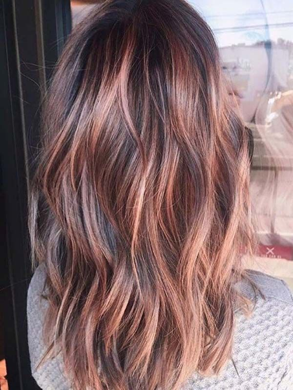 46 beautiful ros46 beautiful brunette gold hair to try color in 2019 – Trendy colours for hair