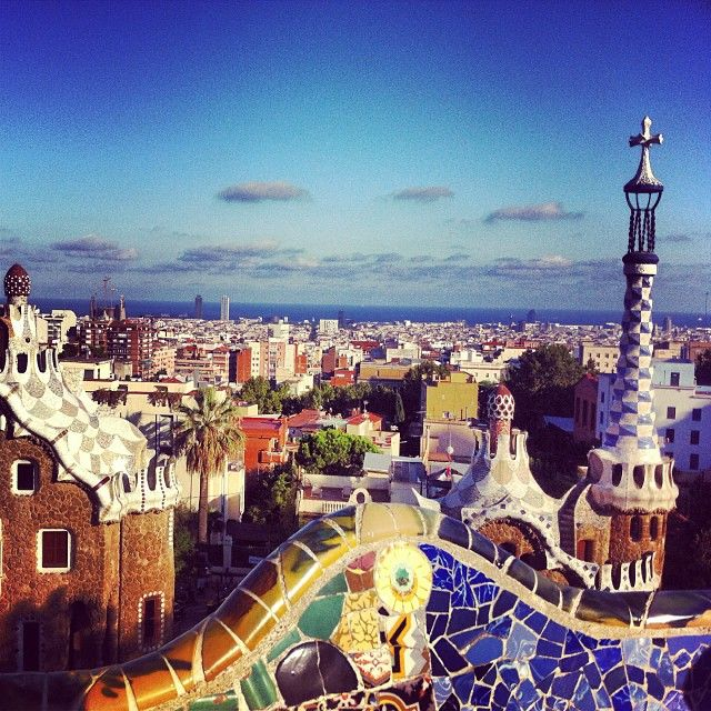 Views from Park Güell, Barcelona (Spain)