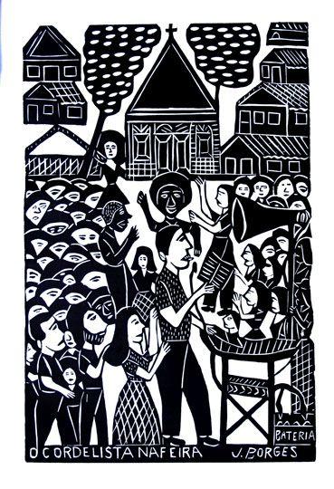 J.Borges  - O Cordelista na Feira, 66X48 cm