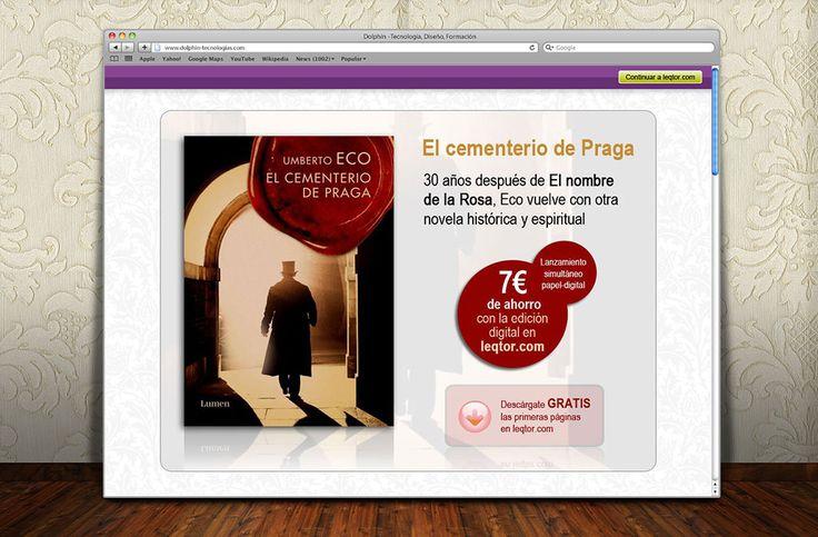 Página de aterrizaje ebooks Umberto Eco | Dolphin Tecnologías