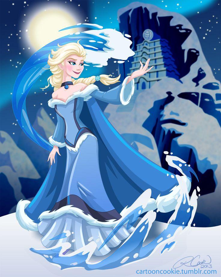 Waterbender Elsa by racookie3.deviantart.com on @deviantART