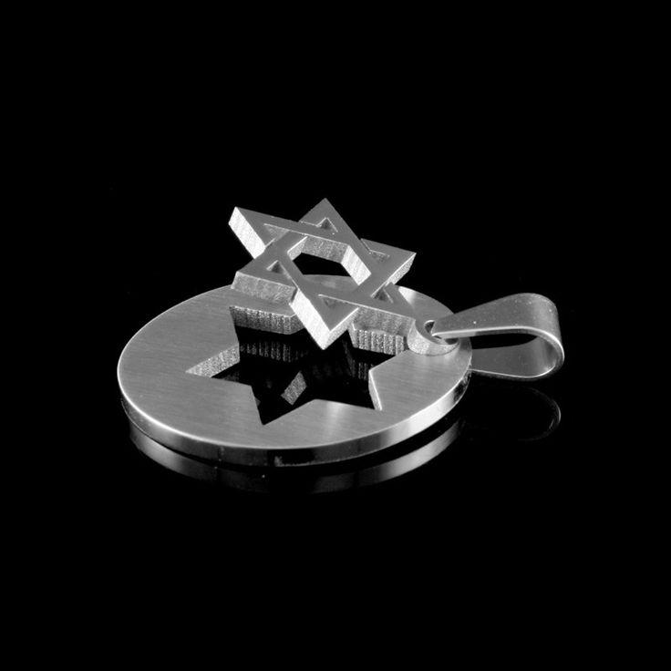 Pingente Steel Collection Estrela de Davi Sobreposta