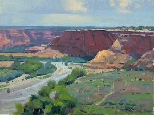 "CANYON DE CHELLY by Robert Goldman Oil on Canvas ~ 12"" x 16"""