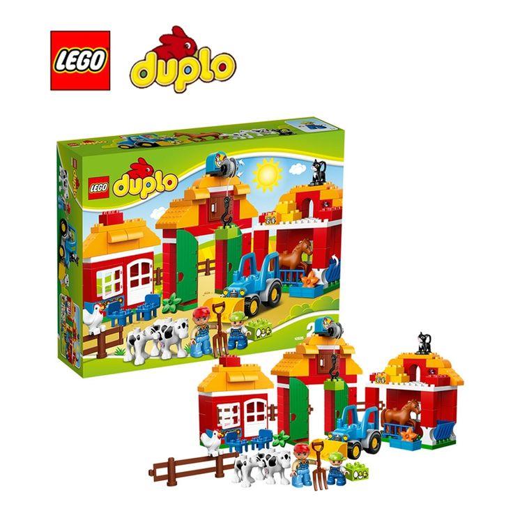 138.72$  Watch now  - LEGO Duplo Big Farm Architecture Building Blocks Model Kit Plate Educational Toys For Children L10525