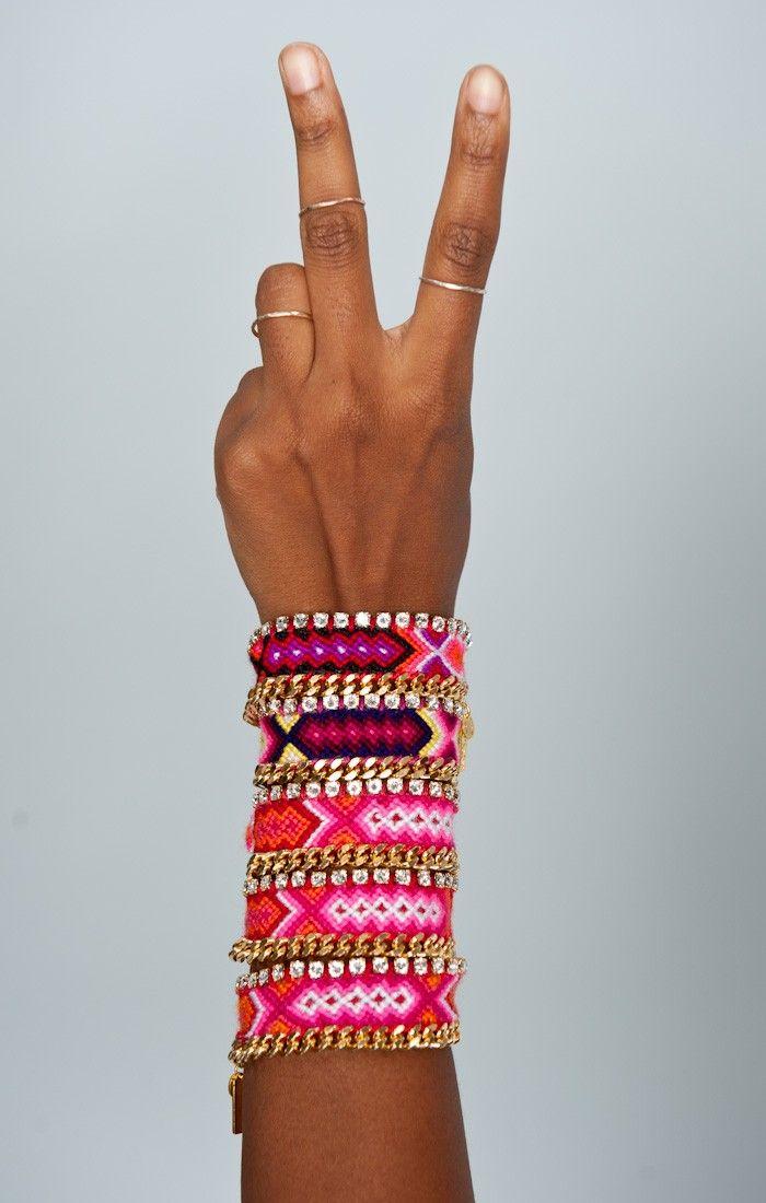 Kim & Zozi Pink Chain 200 Bracelet