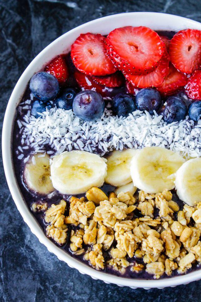 Homemade Berry Acai Bowl.