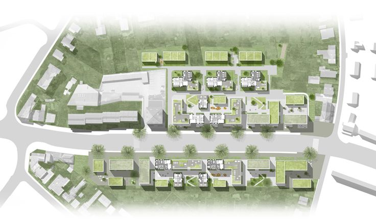 1st prize in competition for about 20000 m2 housing in Lübeck, Germany