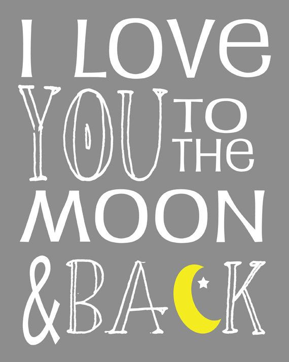 i love you to the moon and back subway art by. Black Bedroom Furniture Sets. Home Design Ideas