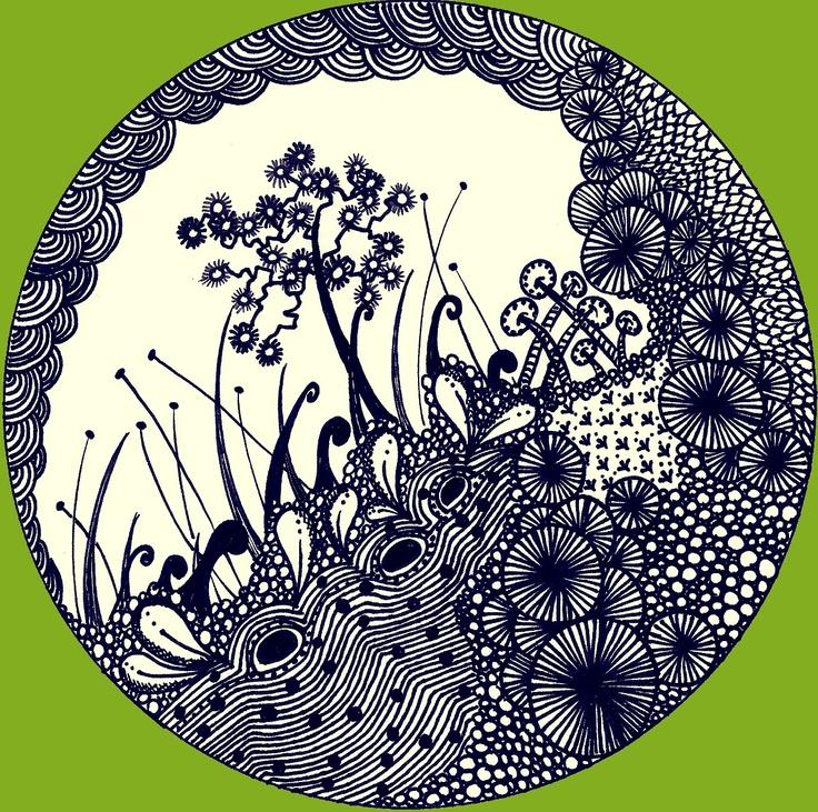 Douceurs et couleurs: Jardin zen(tangle)