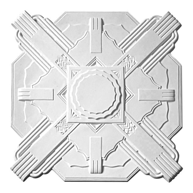 Astor Ceiling Rose, made from resin and primed ready to paint. Get it from Schots: https://www.schots.com.au/astor-ceiling-rose-white-primed-kai52roa.html