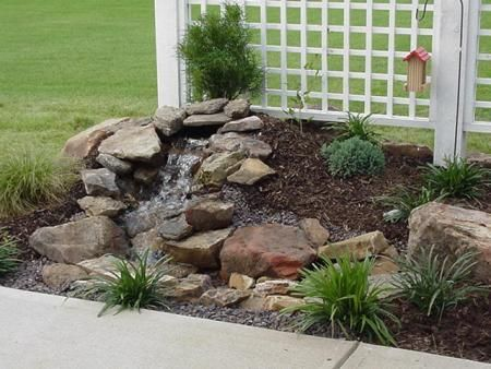 diy small water feature ideas. ozark mountain boulder pondless water feature 2 diy small ideas