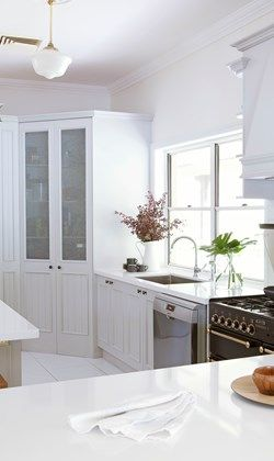 Beautiful panelling gives this kitchen traditional good looks - Home Beautiful
