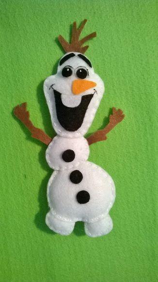 Boneco de neve OLAF em feltro