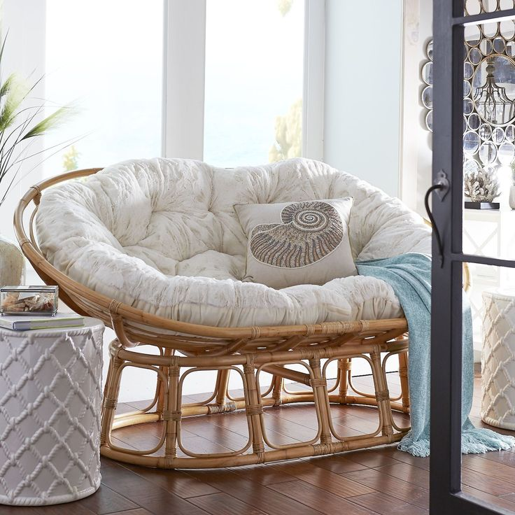 Papasan Double Chair Frame - Natural   Pier 1 Imports