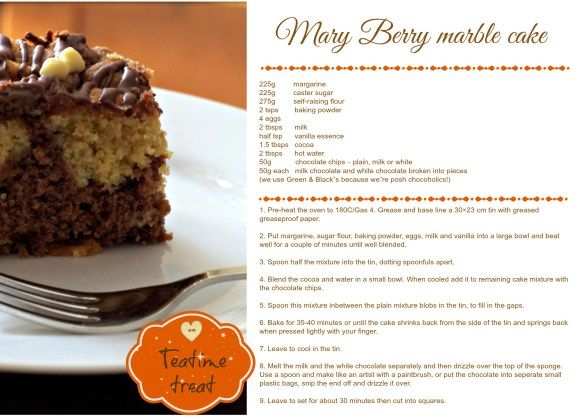 mary berry marble cake