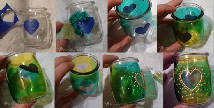 Some ideas to create lanterns from glass jars - decorating with glass paint <3 kochajitworz.pl/?p=1714