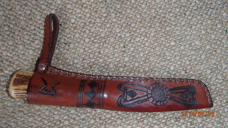 HISTORICAL Early medieval knife sheath. Crafted by using only medieval appropriate methods.