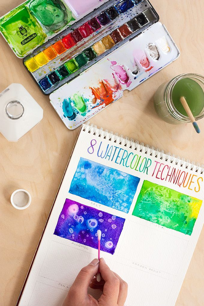 TOOLBOX: 8 Watercolor Techniques for Beginners | https://adventures-in-making.com/toolbox-8-watercolor-techniques-for-beginners/
