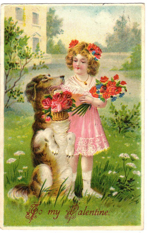 849 best images about St Valentines Day Vintage Cards – Vintage Victorian Valentine Cards