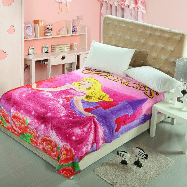 Mickey mouse hello Kitty princess marie cat home textile cartoon flannel blankets queen full kids for bed 150*200 throw soft