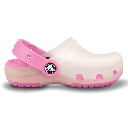 Crocs™ Girls 1st Walker/Toddler/Youth Chameleons Translucent Clog #VonMaur