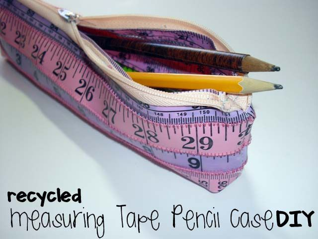 DIY Tutorial Diy Back To School / DIY Recycled Measuring Tape Pencil Case    Beadu0026Cord