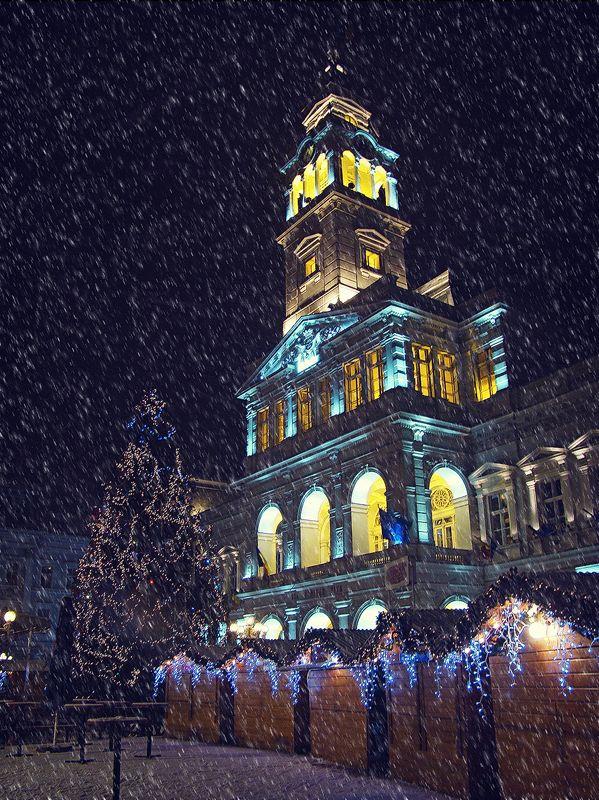 snow, Arad, Romania