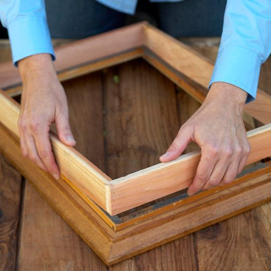 Step 3: Add a Shadow Box          A shadow box adds depth to the back of the picture frame, allowing space for soil and plants. Use naturally water-resistant redwood or cedar 1x3s, cut to the dimensions of the back of the frame. Nail or screw into place.