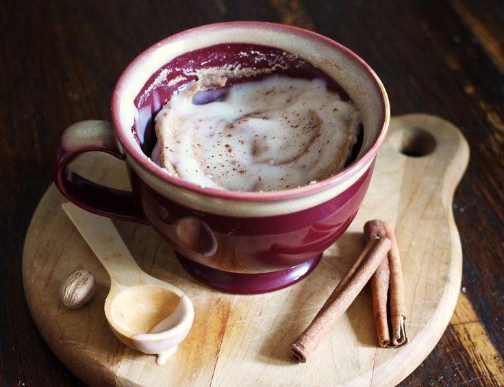 Paleo Cinnamon Bun in a Mug #SouthBeachPrimal