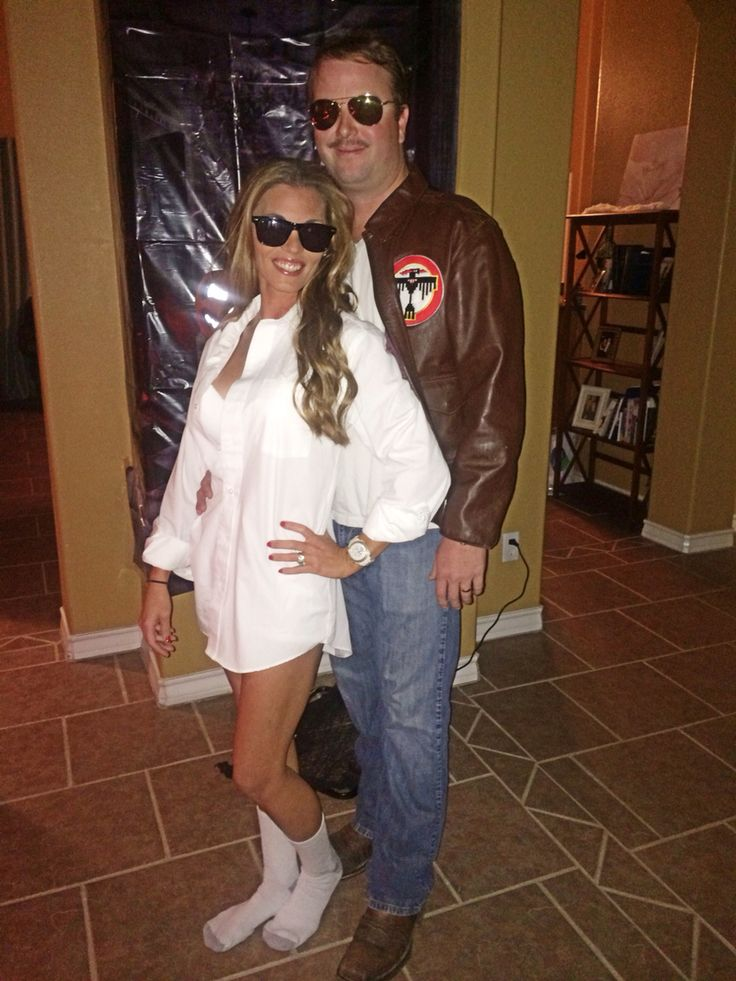 Risky Business Top Gun Halloween Couples Costumes