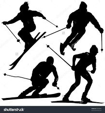 Image result for skiing silhouette