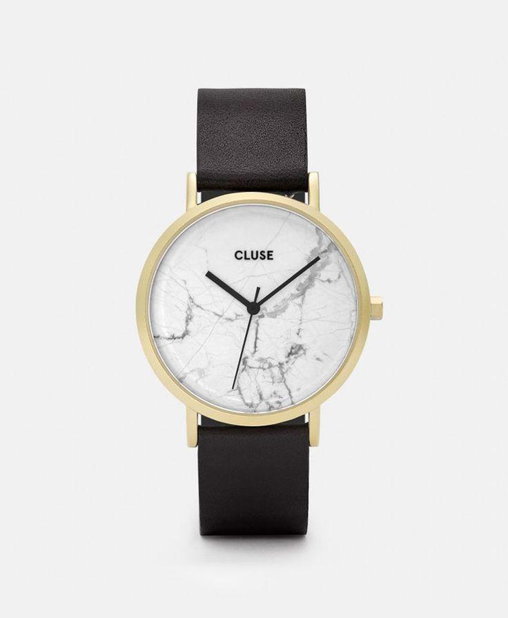 Cluse Hodinky La Roche Gold White Marble/Black, 4300 Kč | Slevy hodinek