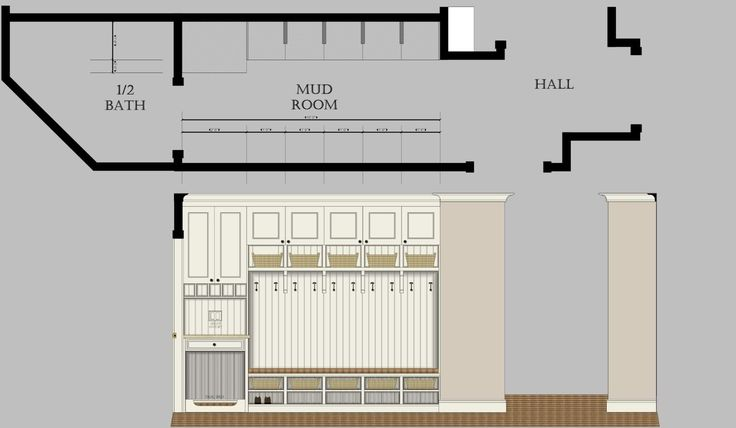 Dimensions of house lockers for mudroom posted by for Mudroom dimensions