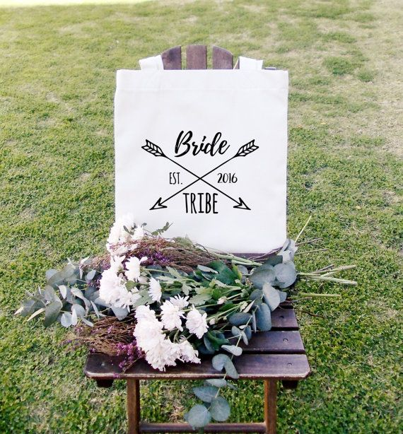 Women's bride tribe bag Ladies cotton canvas by ToastStationery