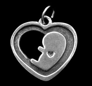 Preborn baby remembrance charm to memorialize an unborn child.  Sometimes you need something to symbolize that short time you had with your baby