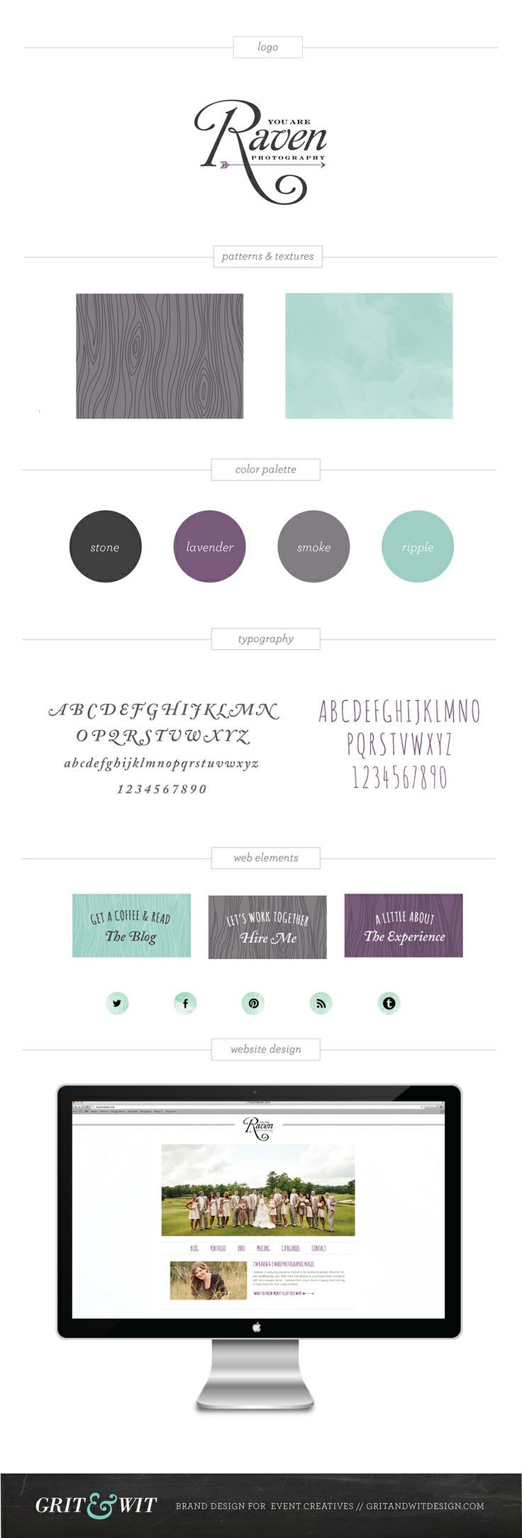 Brand Reveal // You Are Raven Photography via Grit & Wit // Brand Design for Creative Professionals