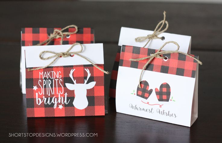 Free Buffalo plaid printables, gift tags and decor!  Check them out on Capturing-Joy.com!