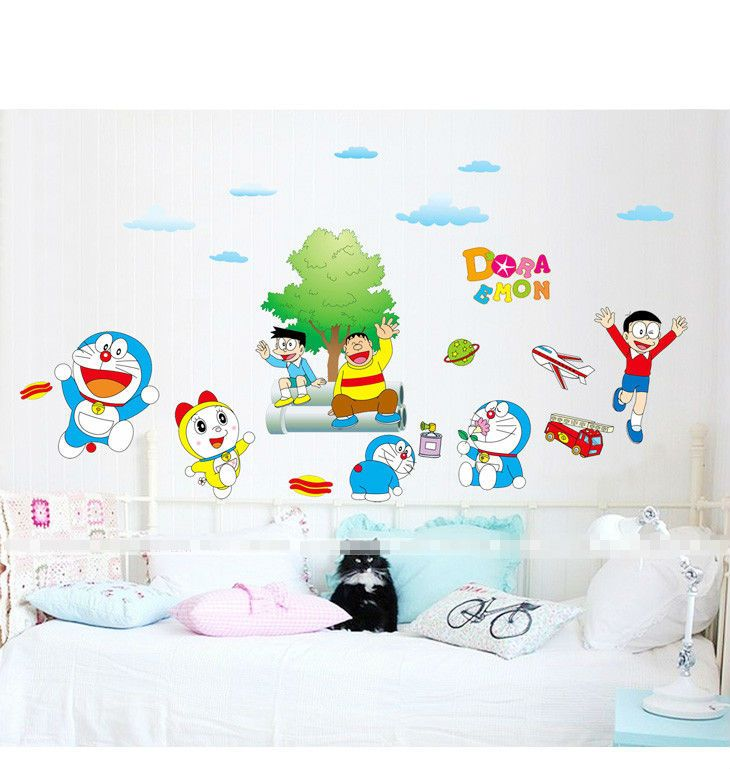 Cartoon Wall Decals | Vintage Cute Cartoon Kids Bedroom Removable Cheap  Wall Stickers #CartoonWallDecals # Part 47