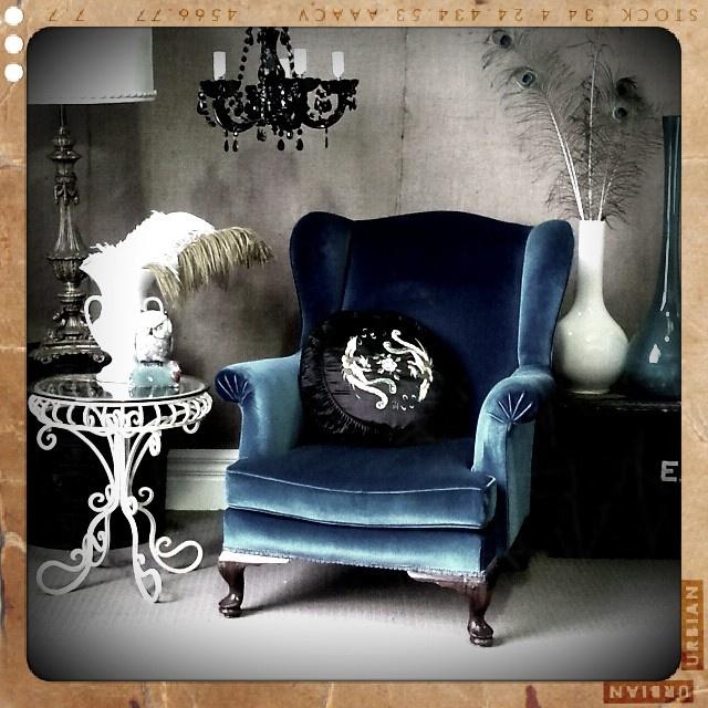 Delightful Velvet Wingback Armchair   Love This Chair! Design Ideas