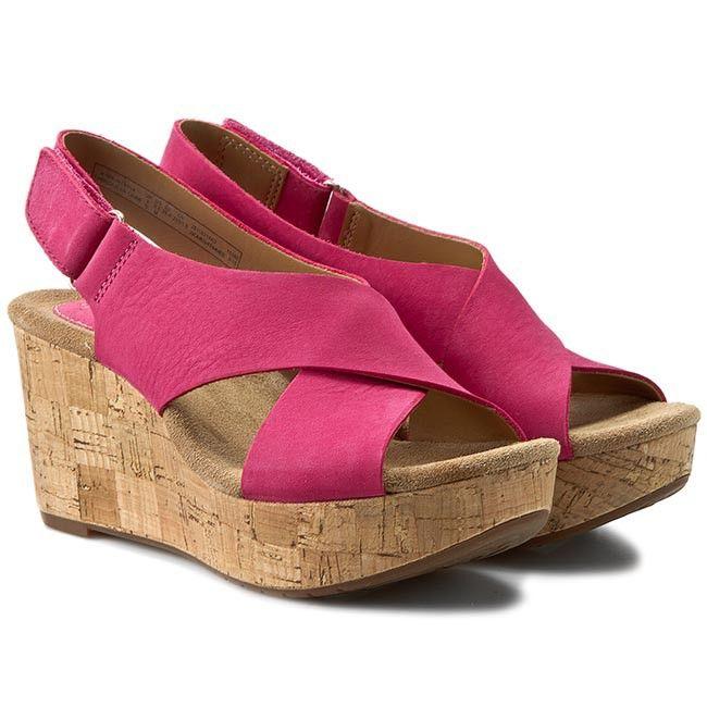 Sandały CLARKS - Caslynn Shae 261153144 Fuchsia