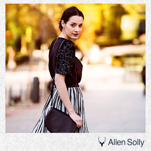 Sequins and stripes can help a woman make a statement, no matter what the situation is!
