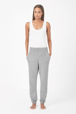 Wool cashmere trousers