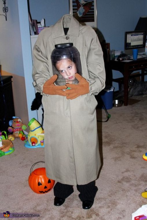 Head in a Jar costume ideaScary Costumes, Halloween Costumes Ideas, Diy Halloween Costumes, Kids Halloween Costumes, Costumes Halloween, Children Costumes, Cool Ideas, Homemade Costumes, Homemade Halloween Costumes