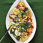 Golden Corn Salad with Fresh Basil - thank you Julie Gutknecht!: Summer Side Dishes, Fresh Basil, Basil Recipe, Potatoes Salad, Totes Gonna, Cooking Lighting, Golden Corn, Corn Salad, I M Totes