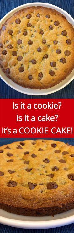 Best Ever Chocolate Chip Cookie CAKE Recipe - So Easy And Yummy! | MelanieCooks.com