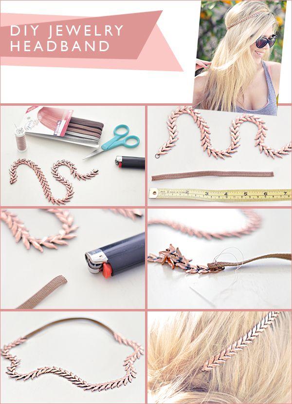 Fun Project: DIY Jewelry Headband #headband