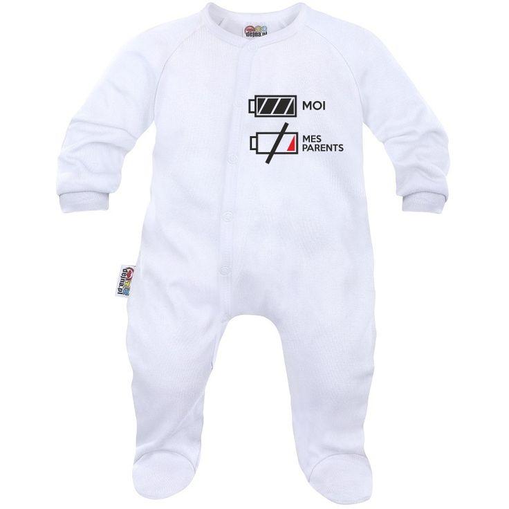 Pyjama bébé rigolo : je suis plein d'ENERGIE