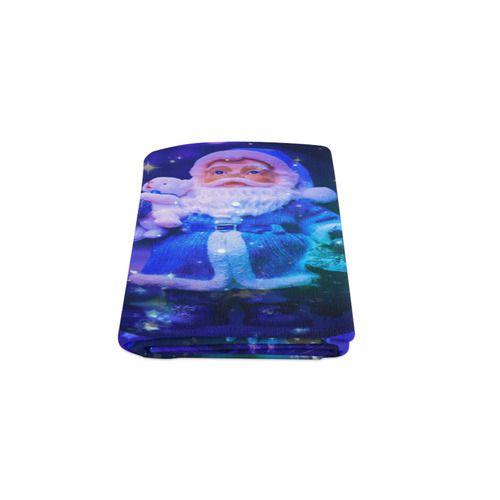 """Blue Santa Claus Blanket 50""""x60"""""""